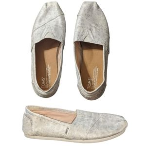 TOMS Ivory Silver Floral Jacquard Women's Classic